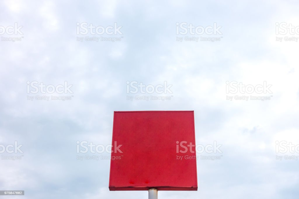 blank poster board wall out side modern shopping mall stock photo