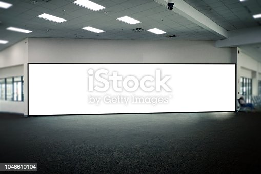 istock Blank Poster display promotion airport terminal 1046610104