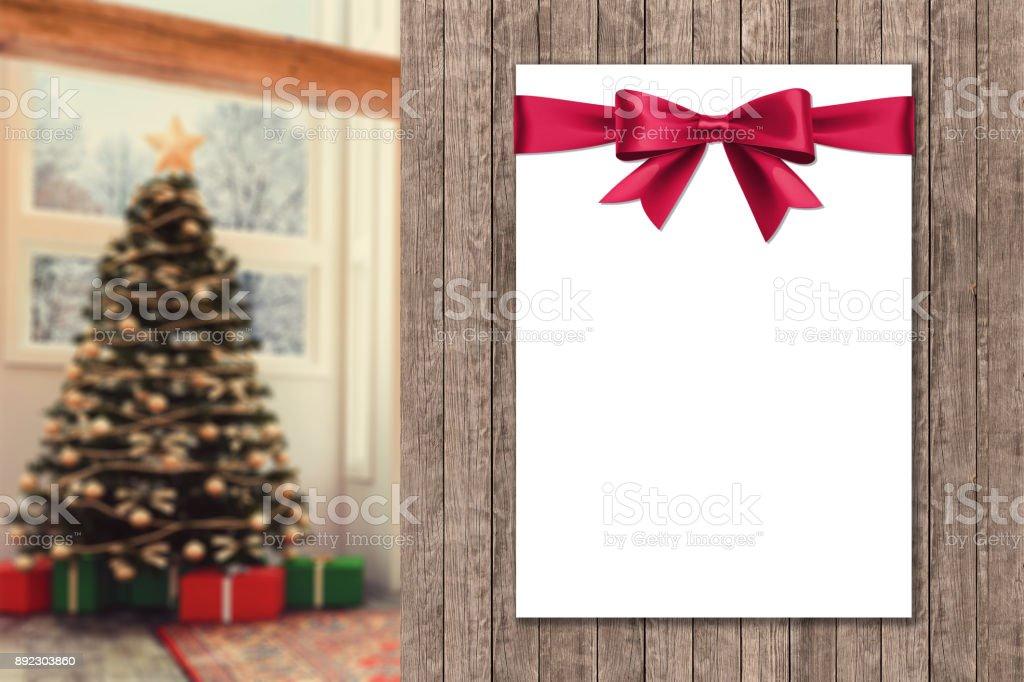 Photo De Stock De Cadre Vide Affiche Sur Le Mur Avec Floue Christmas