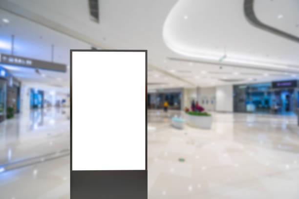 blank poster in shopping mall - foto stock