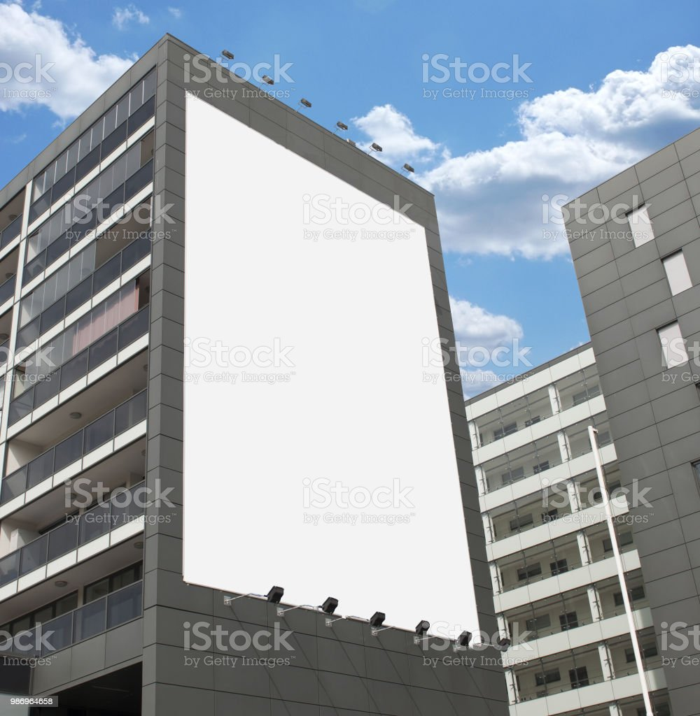 Blank Poster mock up stock photo