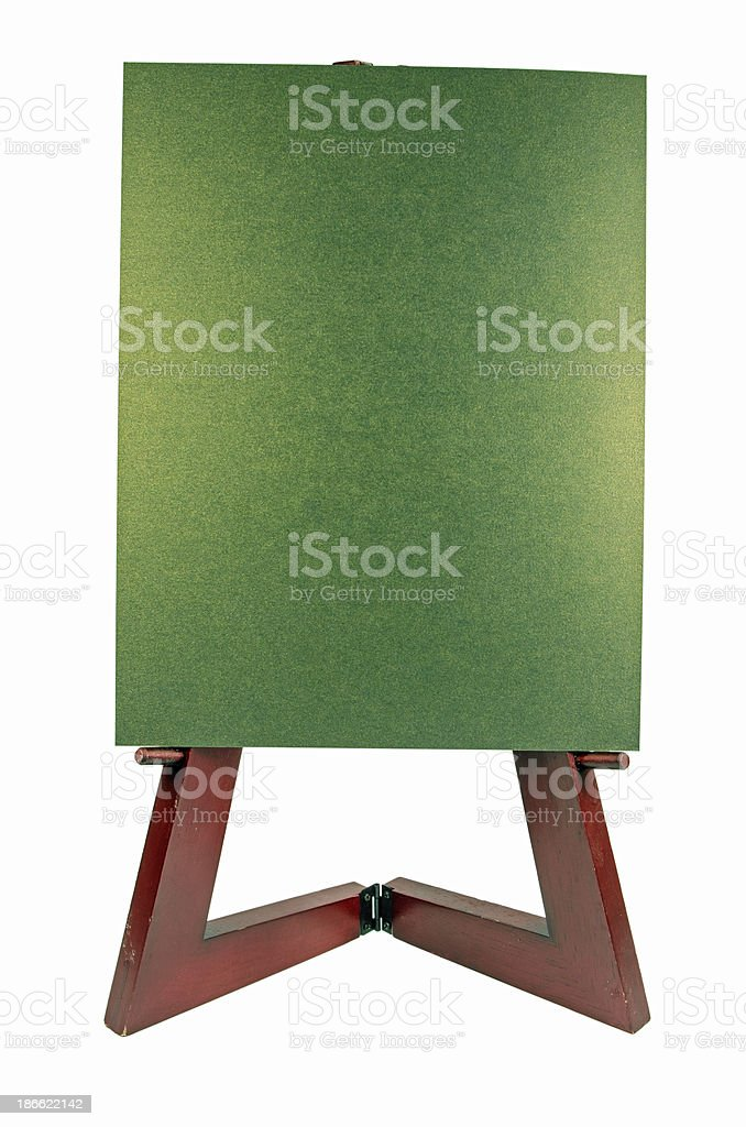 Blank Poster on Easel royalty-free stock photo