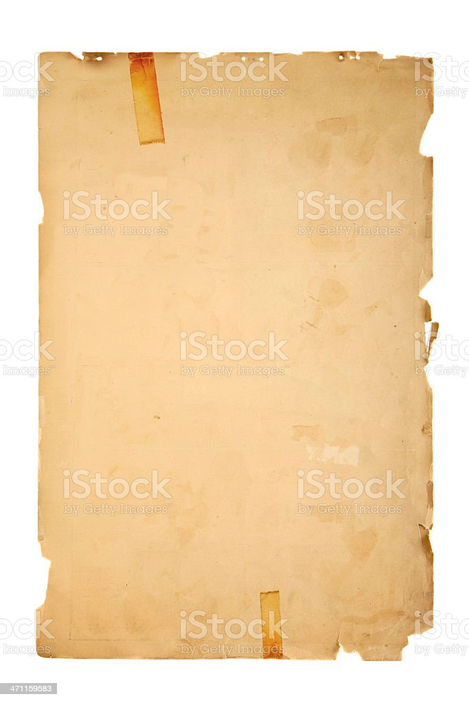 Blank Poster Paper stock photo