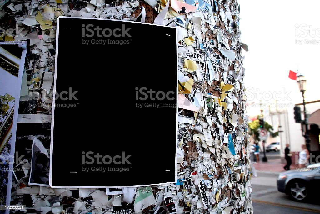 Blank poster. royalty-free stock photo