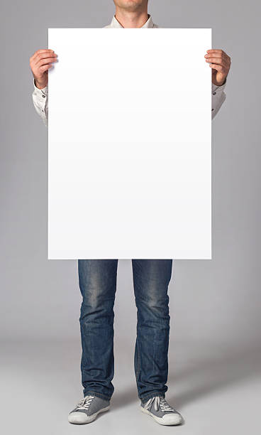blank poster - holding stock photos and pictures