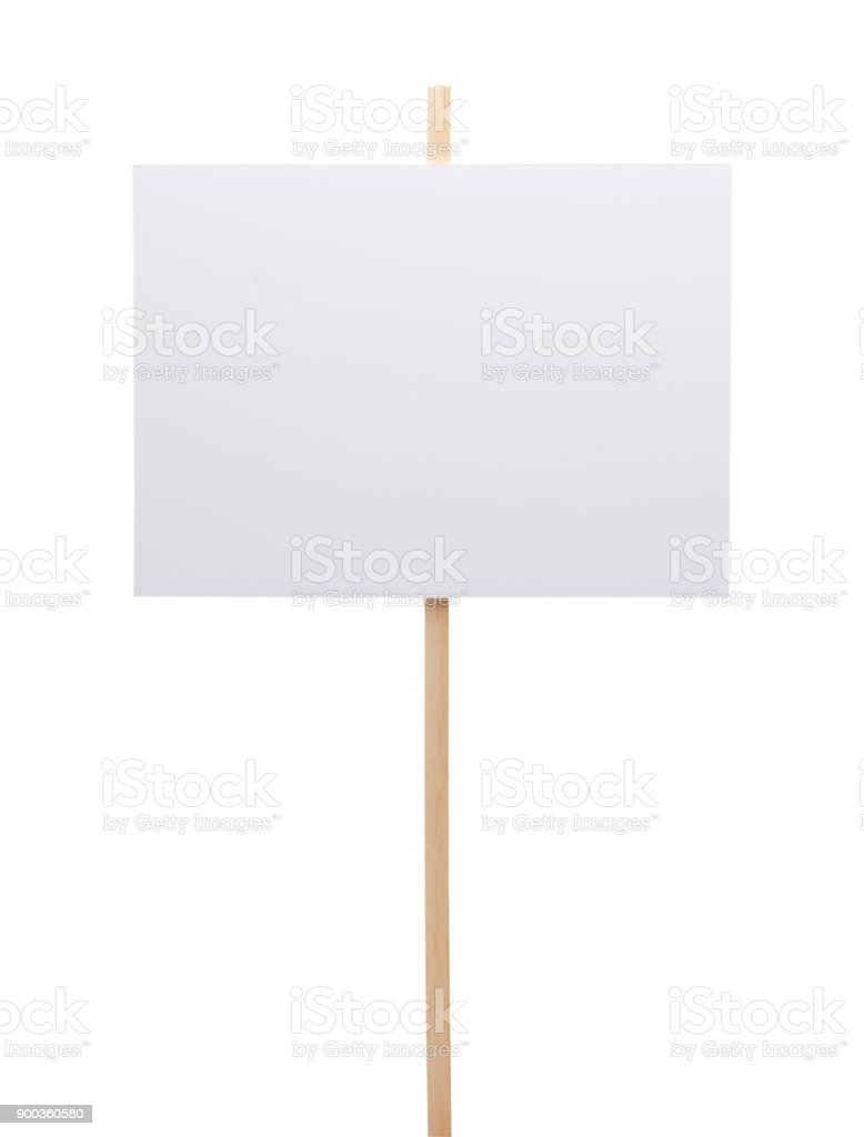 Blank Poster Sign stock photo