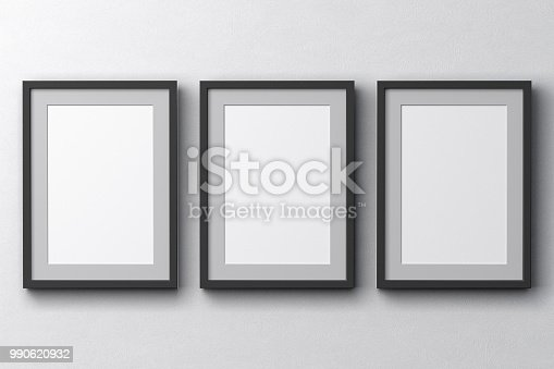 istock Blank  posters on the wall 990620932
