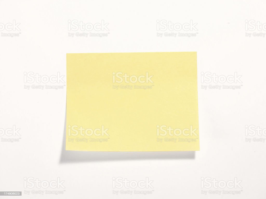 blank postit royalty-free stock photo