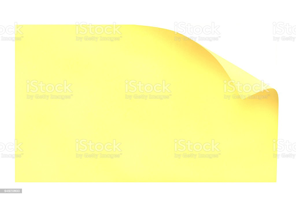 Blank Postit with Curly Corners royalty-free stock photo