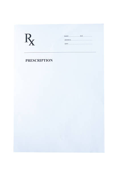 Blank prescription isolated on white background Blank prescription isolated on white background rx stock pictures, royalty-free photos & images