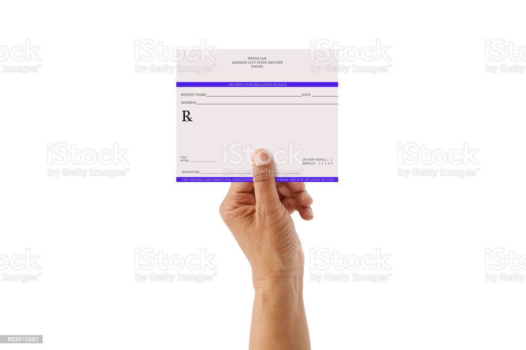 Blank Prescription royalty-free stock photo