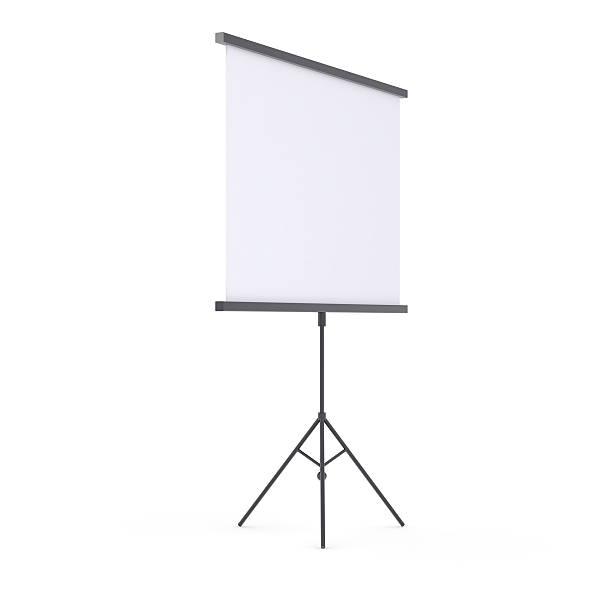 Blank presentation roller screen stock photo