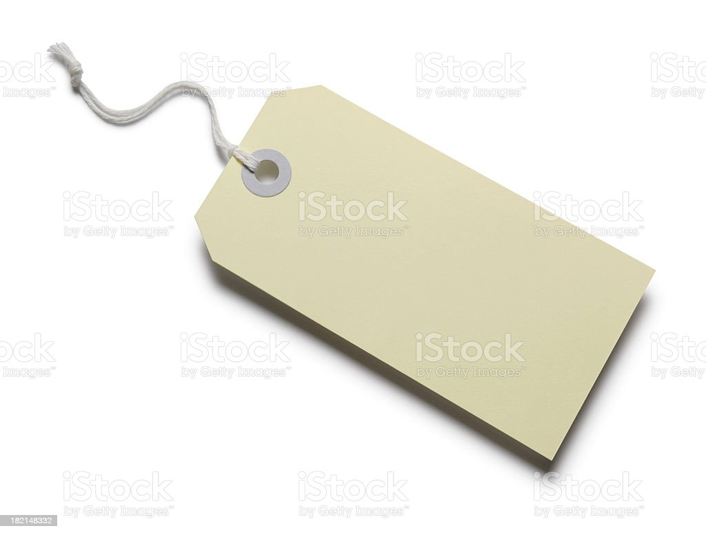Blank Price Tag 2 stock photo
