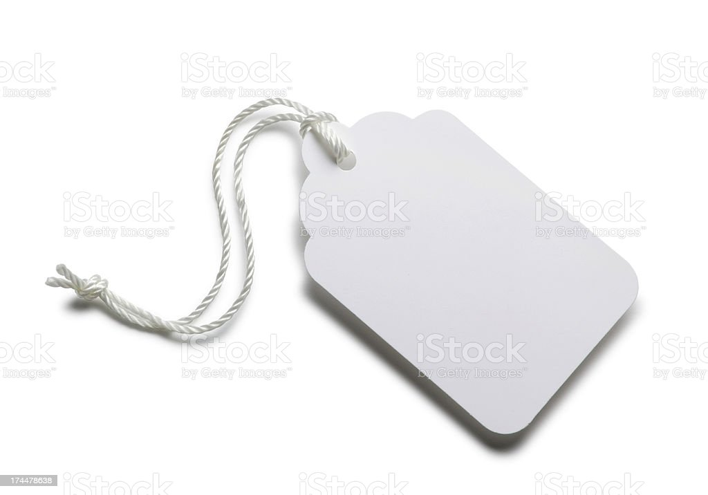 Blank Price Tag stock photo