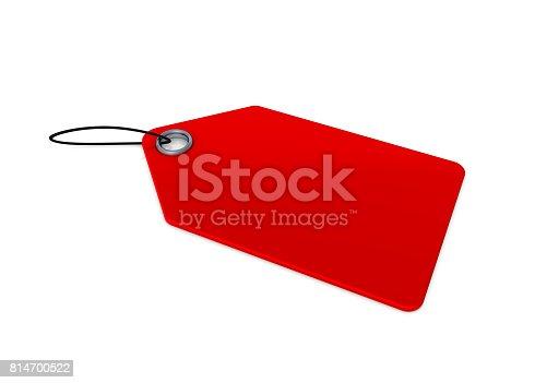 istock Blank Price Tag 814700522