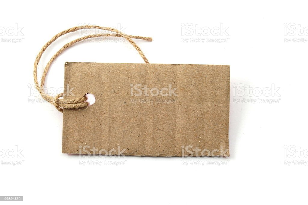 blank price tag - Royalty-free Blank Stock Photo