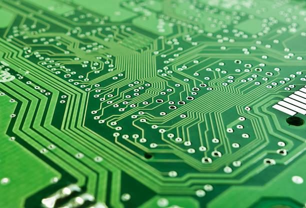 Vuoto circuito stampato a bordo brani - foto stock