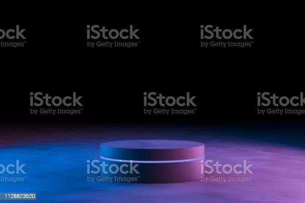 Blank product stand with neon lights on dark background picture id1128823520?b=1&k=6&m=1128823520&s=612x612&h=ujz vpm63pzeom86zyh og  jrixmb30gdkbk5nlf2a=