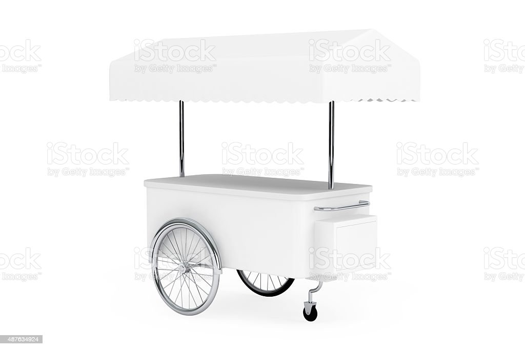 Blank Promotion Cart and Canopy stock photo
