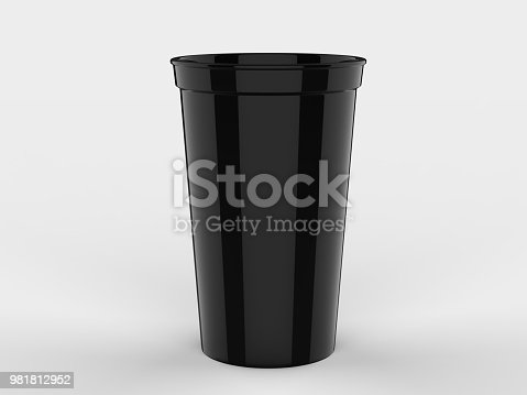 Blank Promotional Stadium Cup For Branding and mock up.
