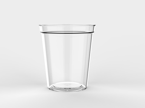 Blank Promotional Stadium transparent Cup For Branding and mock up.