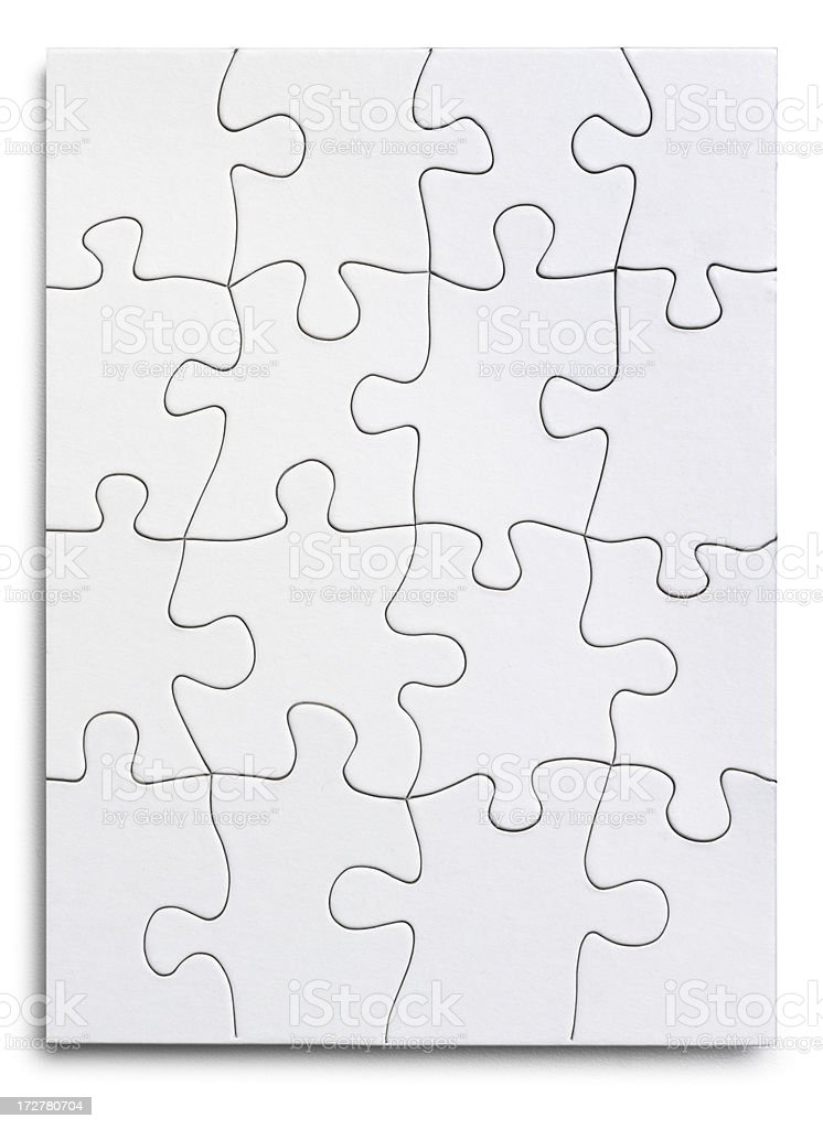 Blank Puzzle royalty-free stock photo