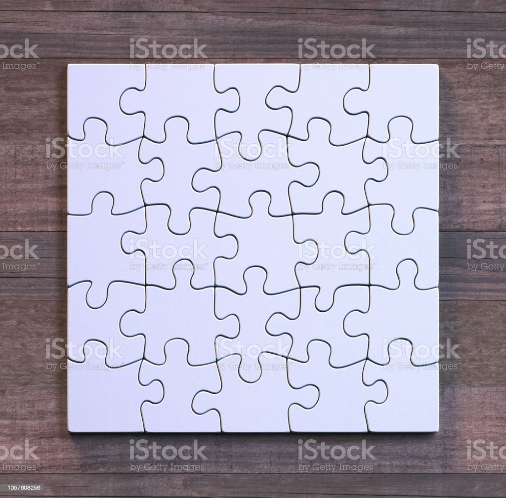 Blank Puzzle Square Format stock photo
