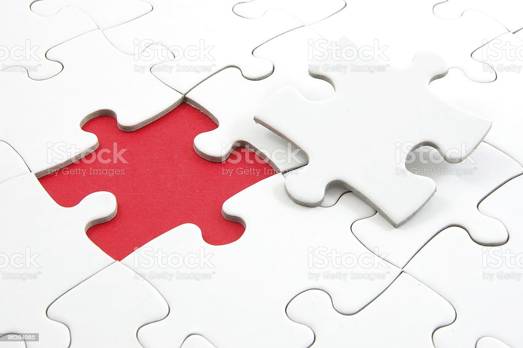 blank puzzle with missing piece - Royalty-free Challenge Stock Photo