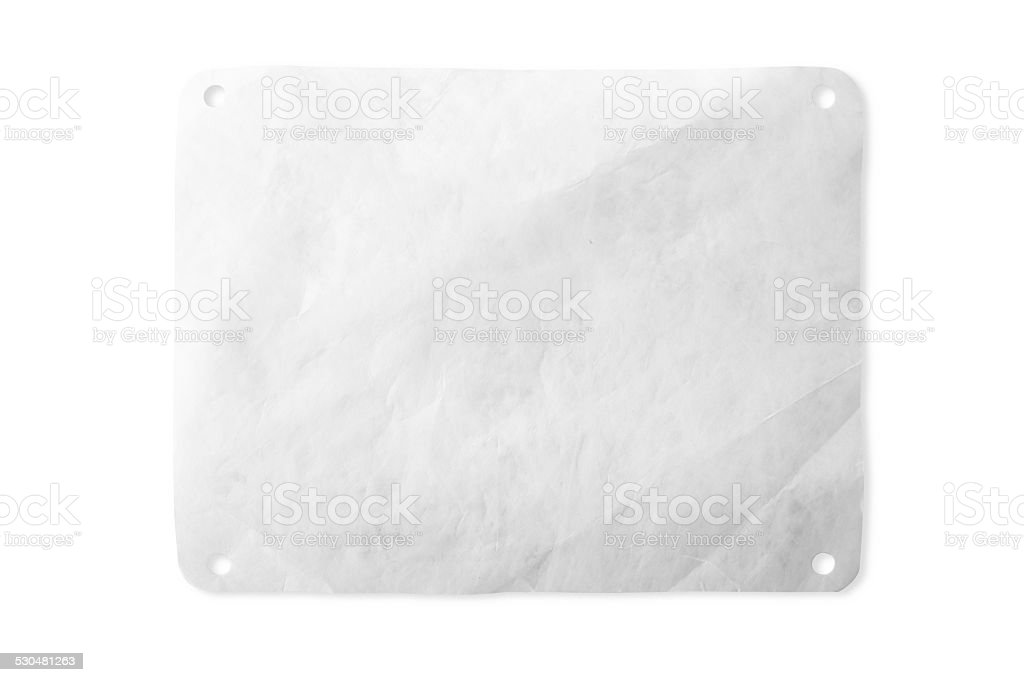 Blank Race Number Bib With Clipping Path stock photo