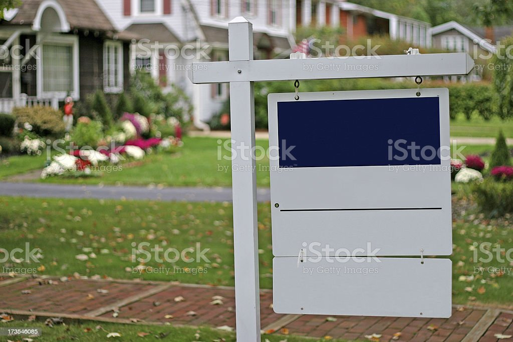 Blank Real Estate Sign stock photo