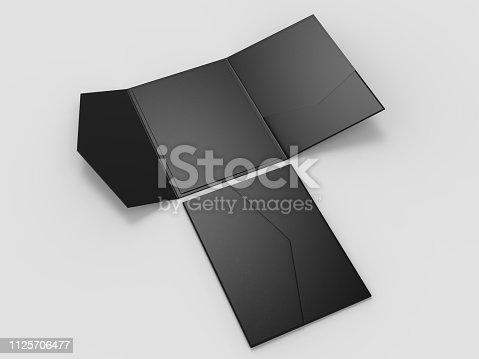 Blank realistic invitation envelope mock up. 3d illustration.
