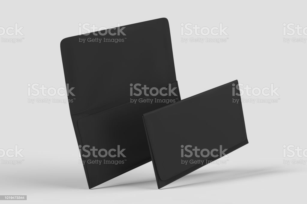 Blank realistic remittance envelope mock up. 3d rendering illustration. stock photo