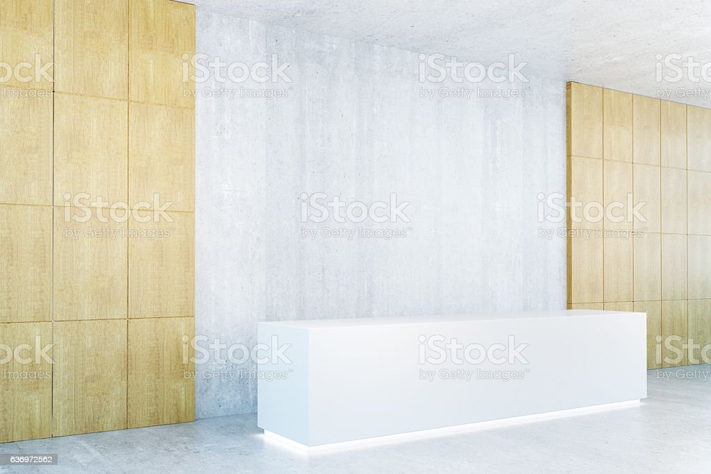Blank reception desk side - foto de acervo