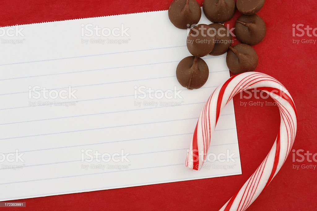 Blank Recipe Card & Candy royalty-free stock photo
