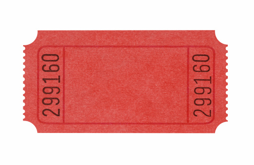 Blank red admission ticket