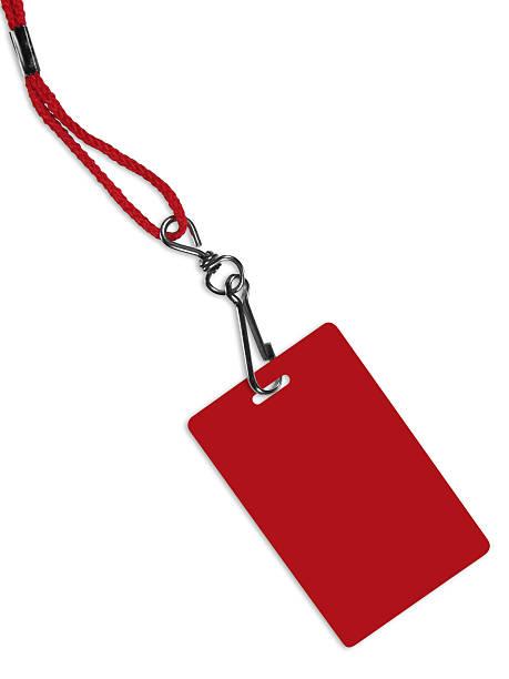 Leere rot-Abzeichen mit Textfreiraum (clipping path – Foto