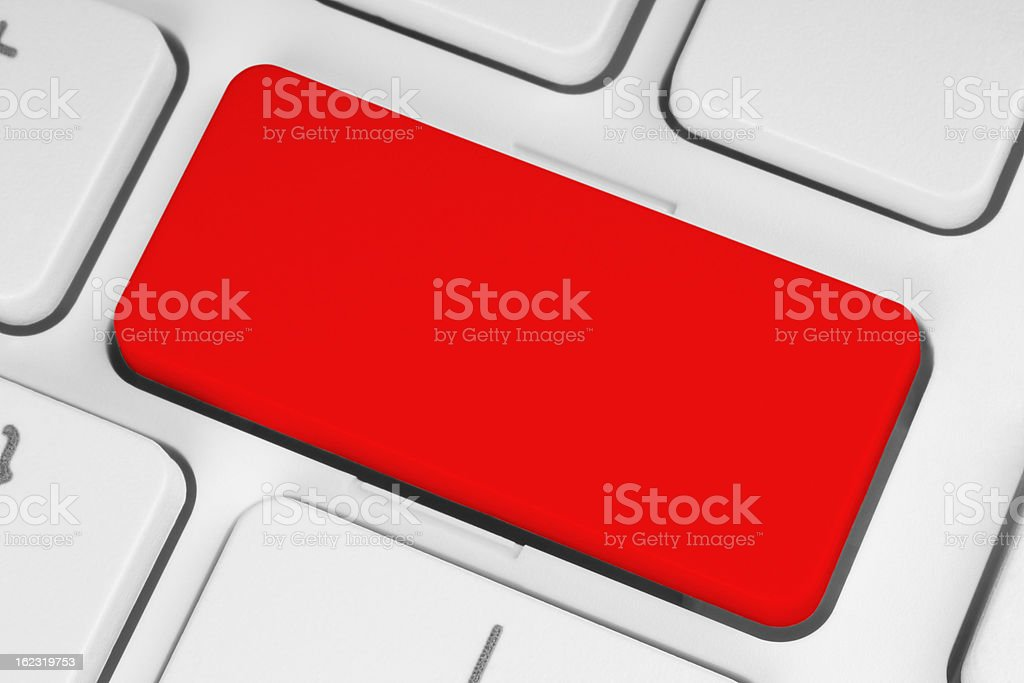 Blank red button royalty-free stock photo