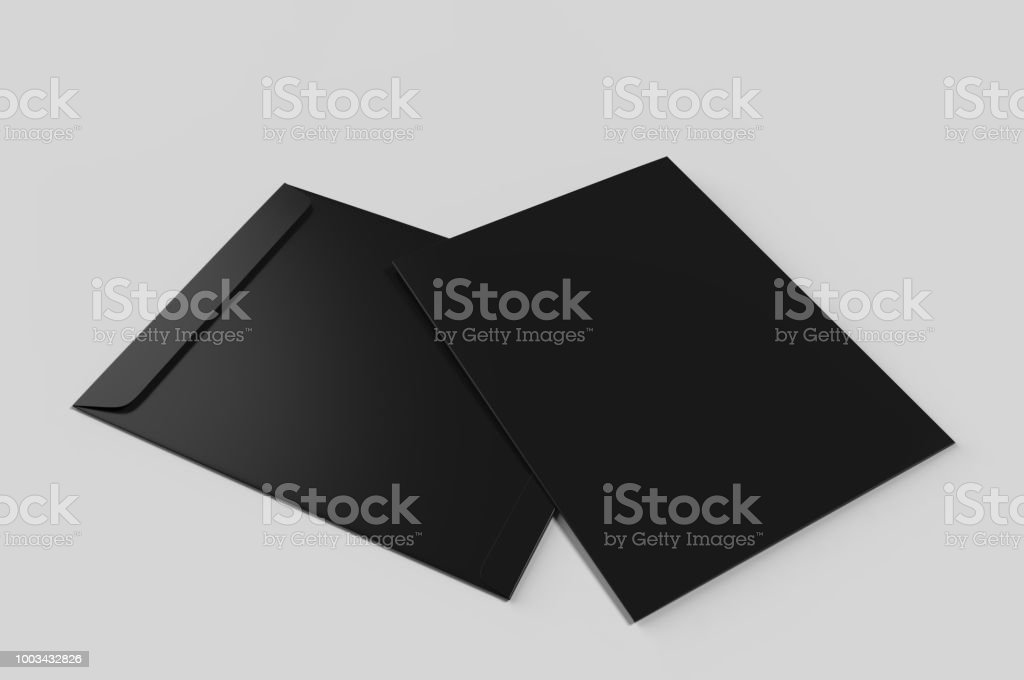 Blank red C4 envelope mock-up, blank template. 3d render illustration. stock photo