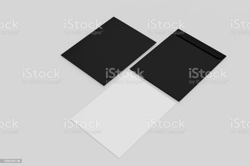 blank red c4 envelope mockup blank template 3d render illustration