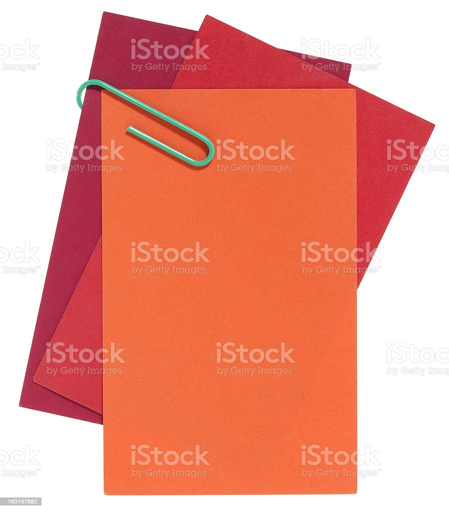 Blank red carton papers royalty-free stock photo
