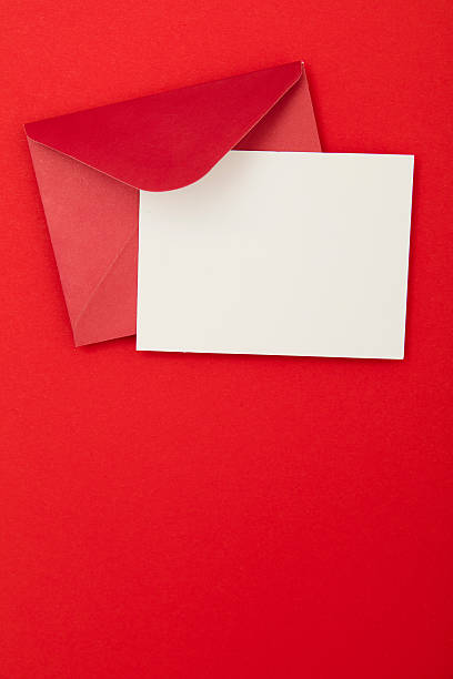 Blank red invitation – Foto