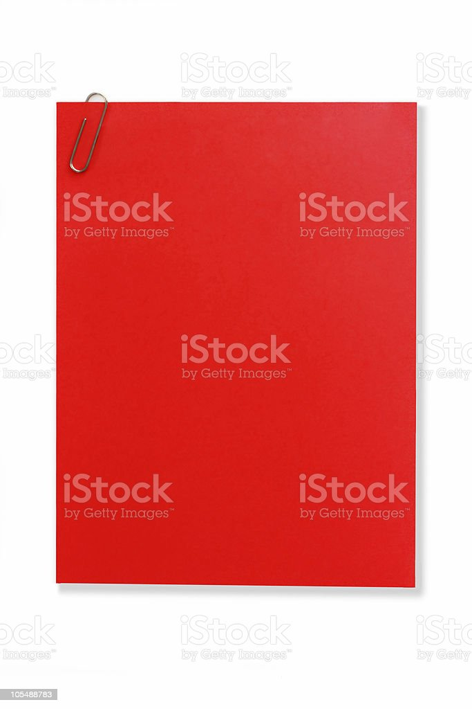 Blank Red Note royalty-free stock photo
