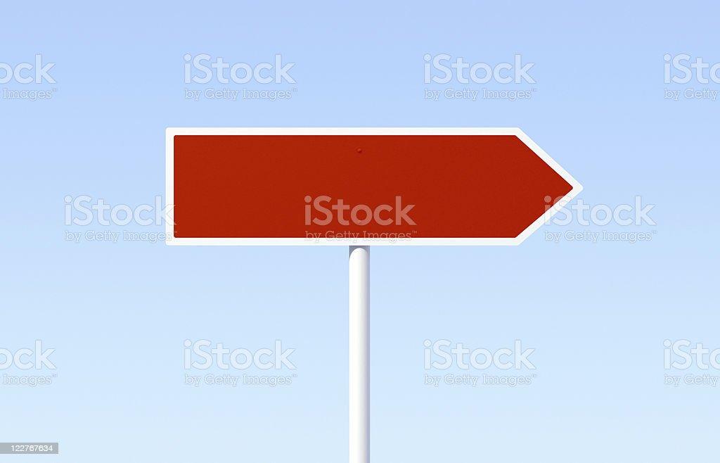 Leere Red Road Sign – Foto