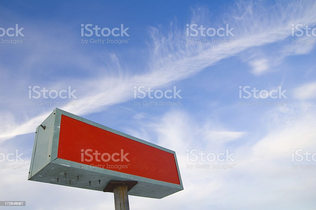 Blank Red Sign stock photo