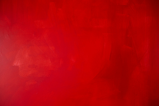 Blank Red wall in bed room, blank red background, red paint on house wall, red texture background