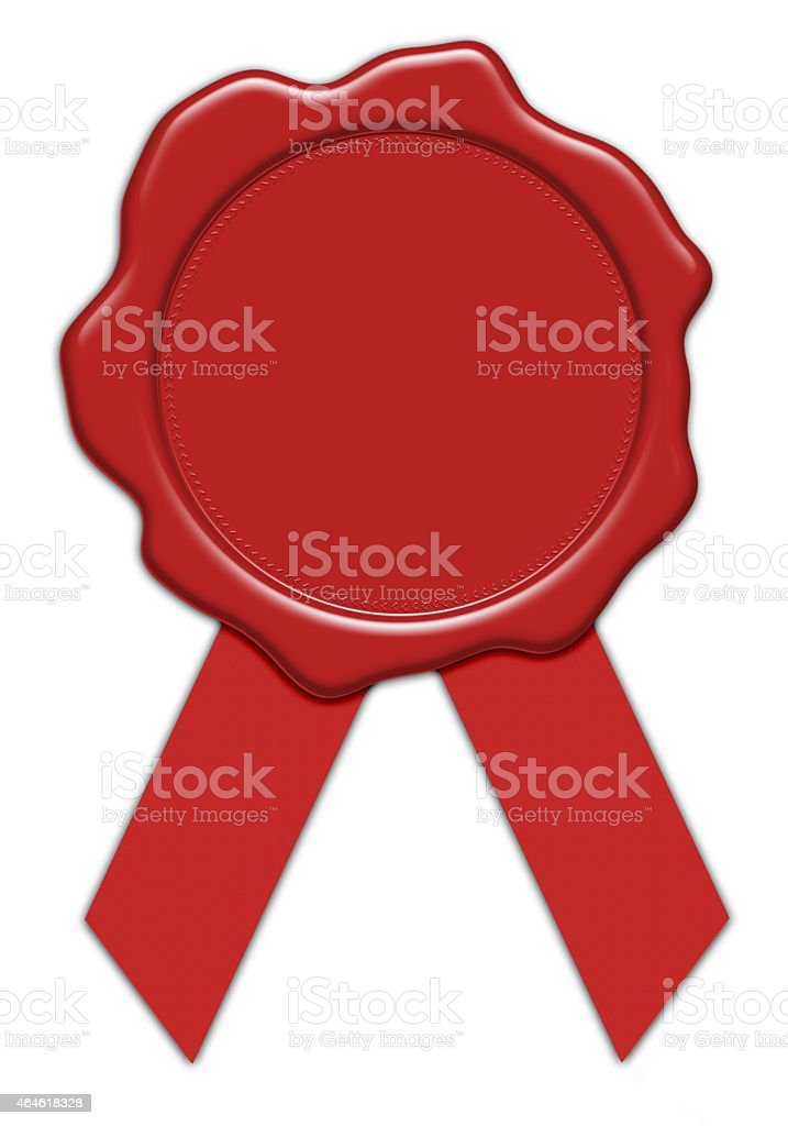blank red wax seal illustration with ribbon stock photo more