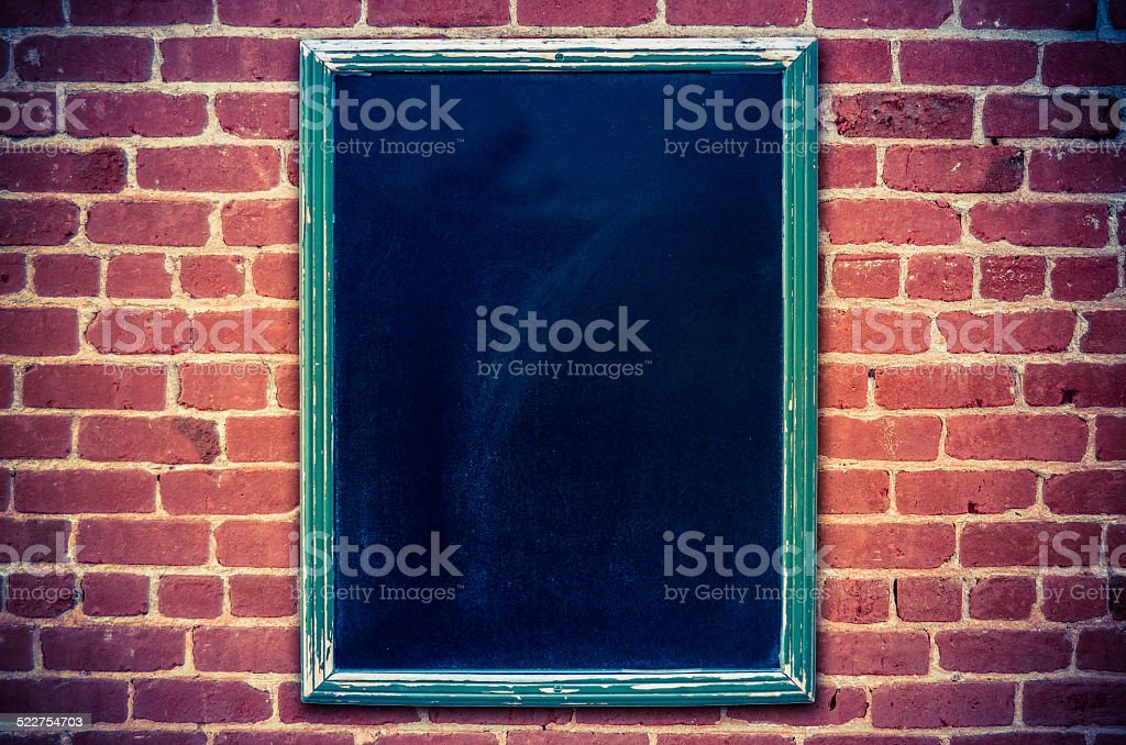 Blank Restaurant Blackboard Menu stock photo