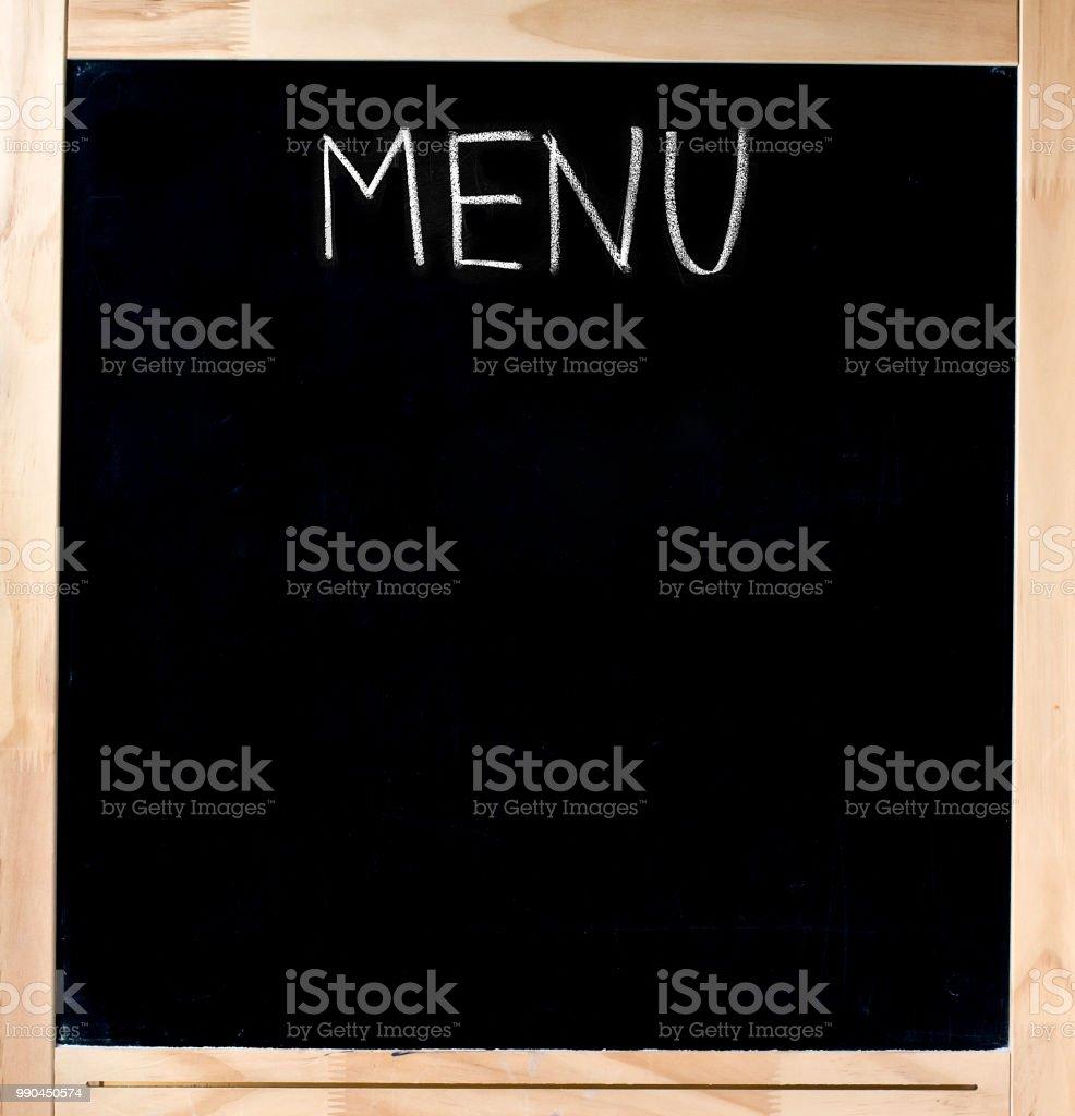 Blank Restaurant Menu Blackboard Royalty Free Stock Photo