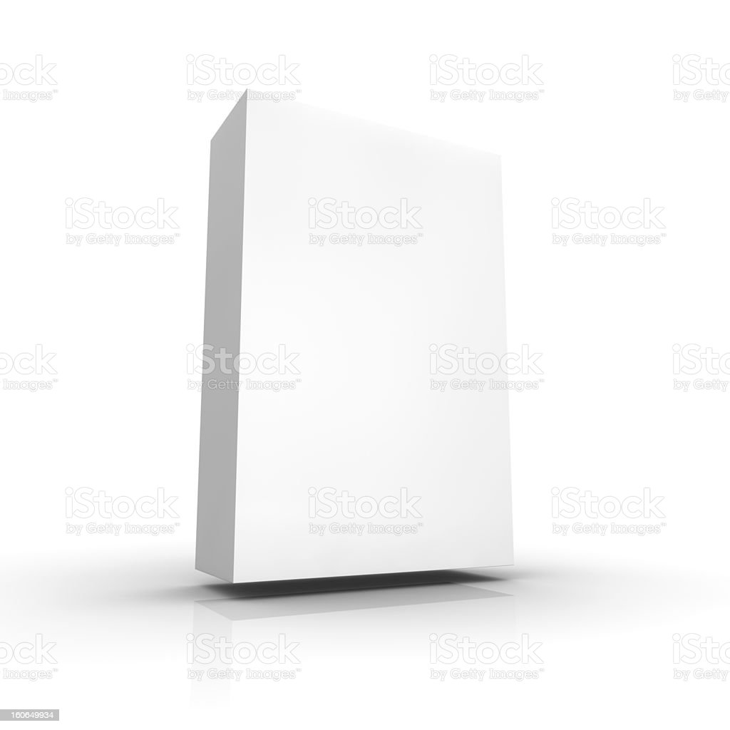 Blank retail package royalty-free stock photo