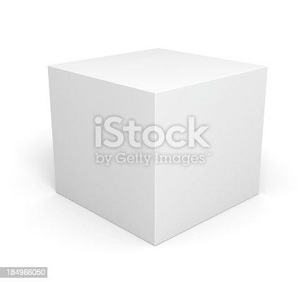 Blank retail white box